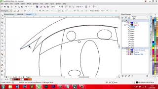 How to make anime eye with Corel Draw X7