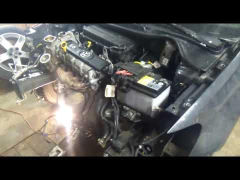 Volkswagen Polo снятие крышки ГРМ