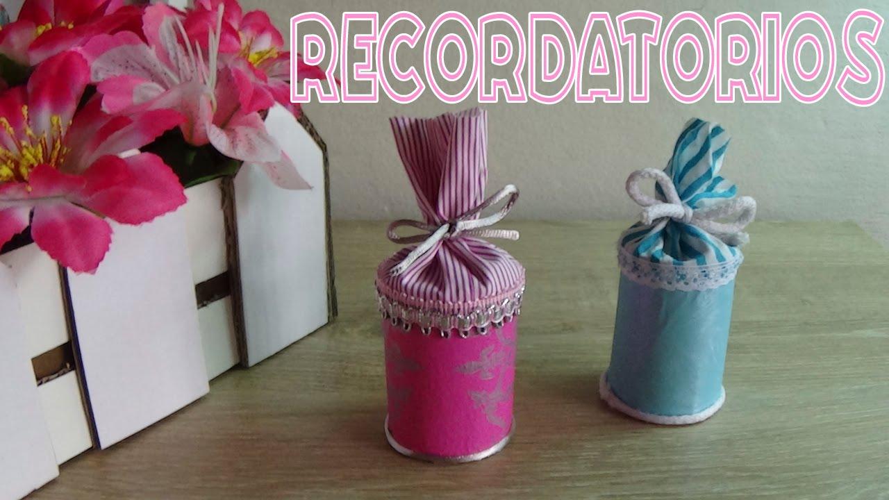 Baby Shower Manualidades Recuerdos ~ Recuerdos para baby shower con material reciclado │candy