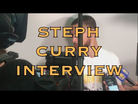 Entire STEPH CURRY interview from practice in Houston, day before 2018 WCF G5