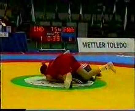SONIKA KALIRAMAN INDIA VS FRANCE 72 KG WOMEN WRESTLING WORLD