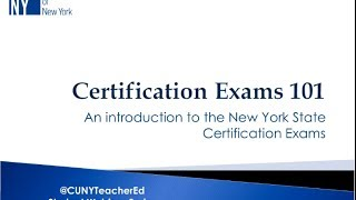 Teacher Ed Webinar: Getting Certified