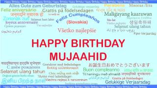Mujaahid   Languages Idiomas - Happy Birthday