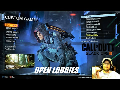 CALL OF DUTY BO3 : OPEN LOBBIES - LETS PLAY SOME CUSTOM GAMES - PS4