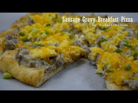 Sausage Gravy Breakfast Pizza Recipe