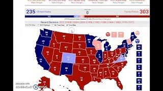 My official electoral vote prediction - Trump gets 303, or just under