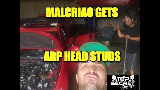 ARP HEAD STUDS INSTALL WITHOUT REMOVING THE HEAD/ EL MALCRIAO GETTING READY FOR DYNO DAY