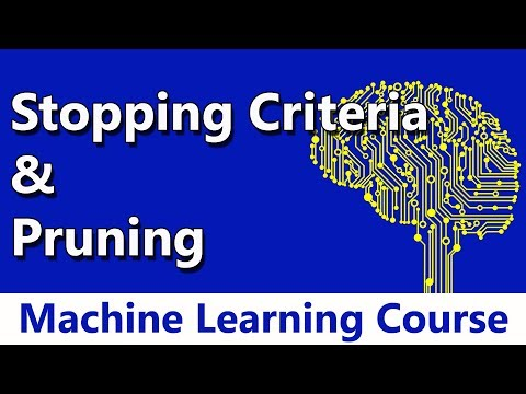 Machine Learning #41 Stopping Criteria & Pruning | Decision Trees