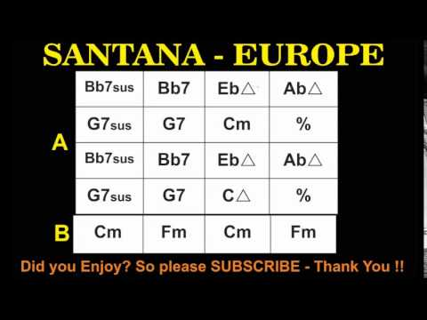 Santana Europa Backing Track Youtube