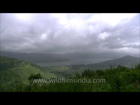 Clouds in fast motion over Panchgani