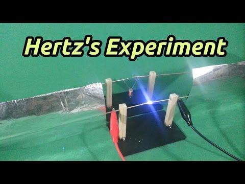 Hertz Experiment on Electromagnetic Waves