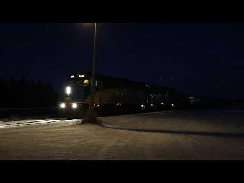 VIA 693 Leaving Thompson, Manitoba 2015/11/30
