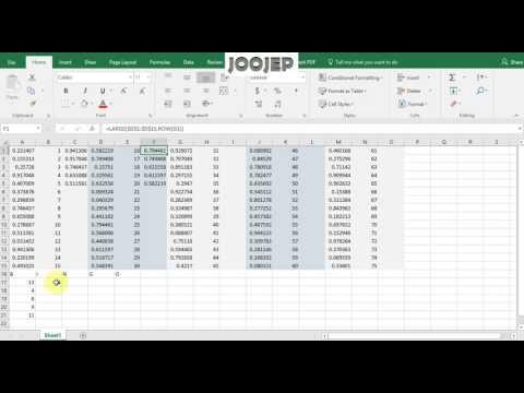 How to make a Bingo card usingExcel