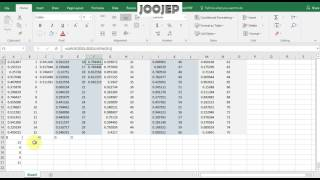 How to make a Bingo card using  Excel
