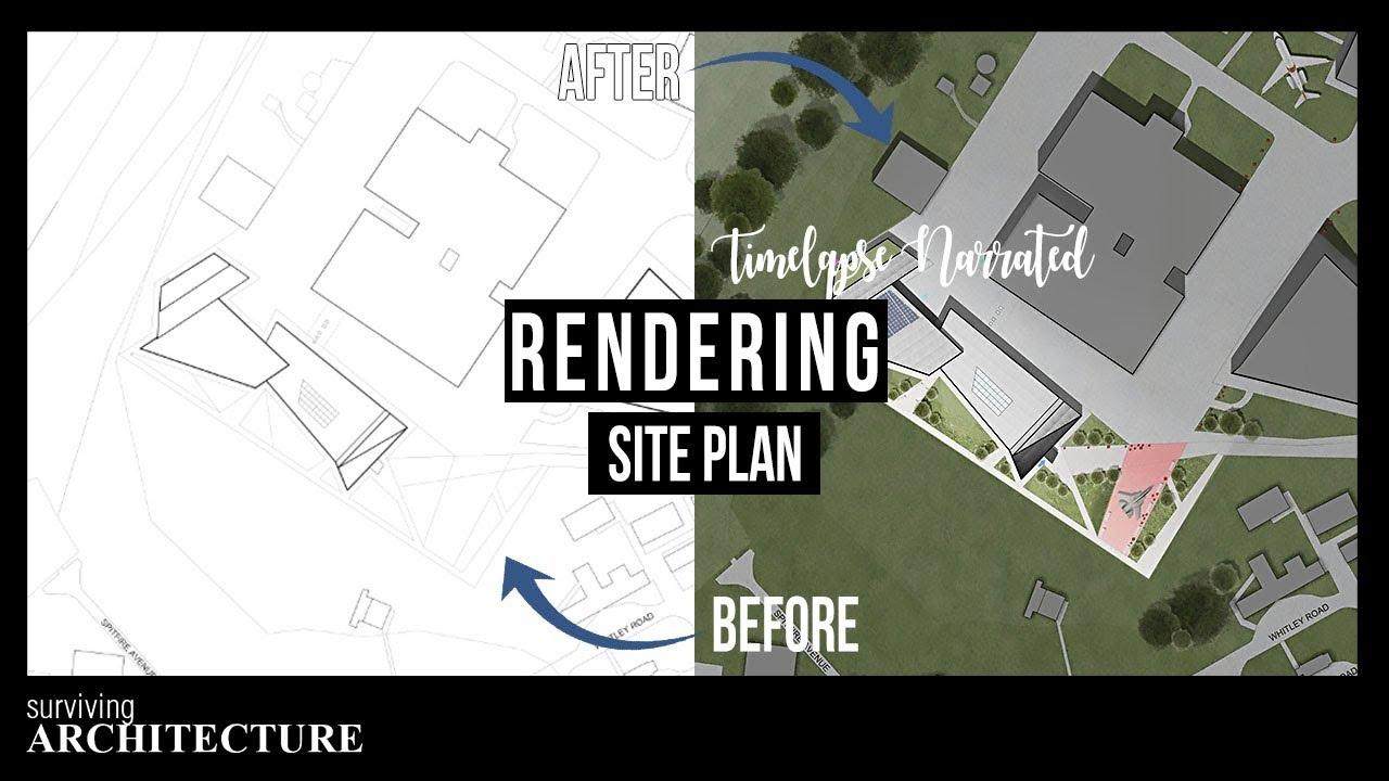 plan site photoshop architecture rendering create