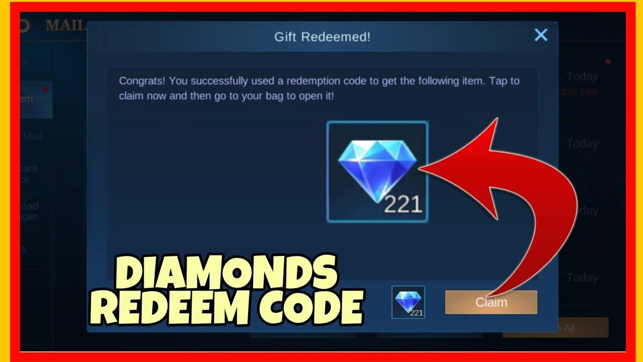 HOW TO REDEEM ML DIAMOND CODE / FREE DIAMONDS MOBILE ...