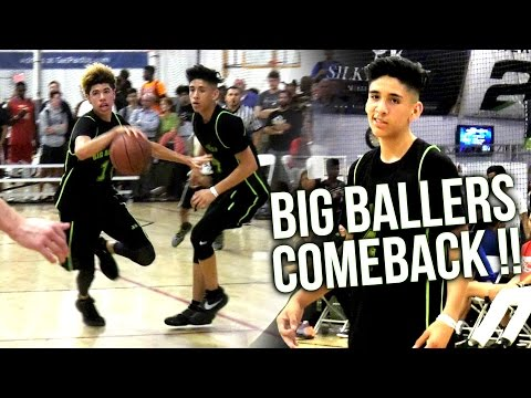 LaMelo Lets Teammates BALL OUT! Will Pluma CANT MISS! Big Ballers 20 Point COMEBACK AAU WIN!
