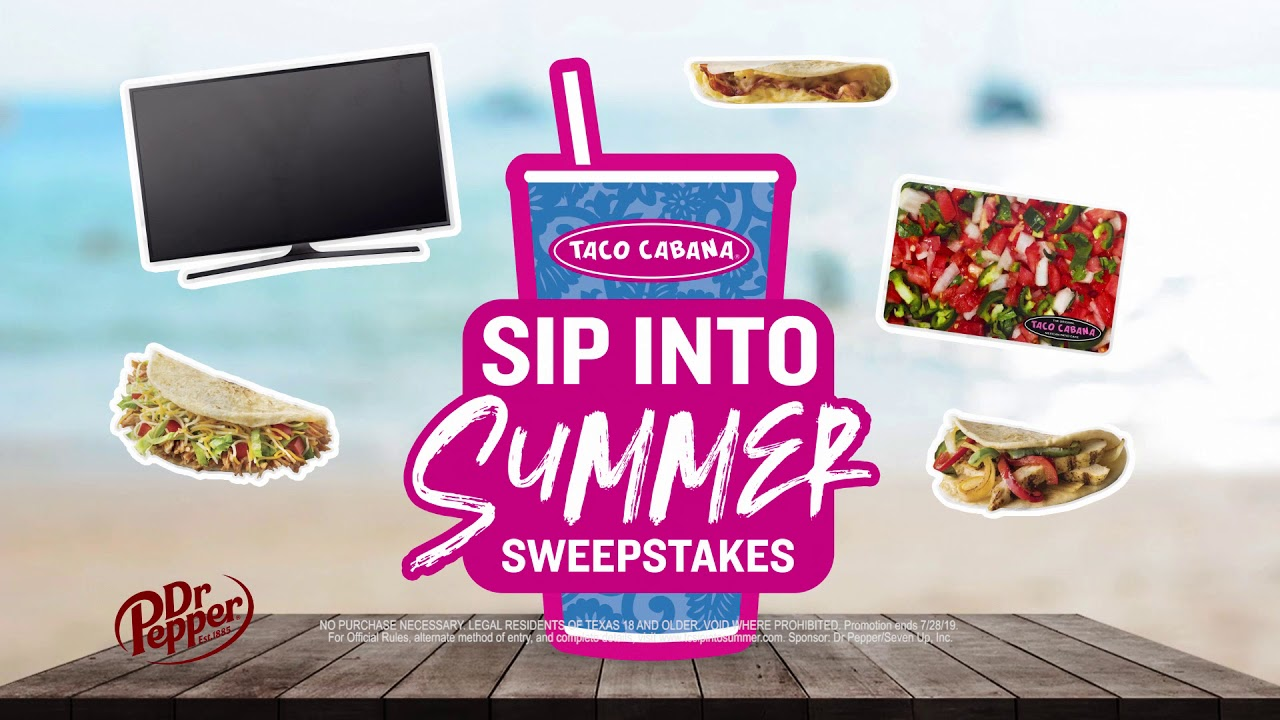 Sip into Summer Sweepstakes  1 in 4 wins!