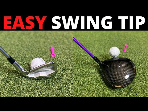 EASY GOLF TIP that will help both your DRIVER SWING and IRON SWING
