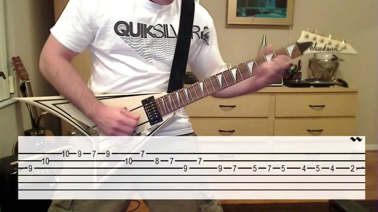 The Unforgiven Solo Lesson Cover W Tab Youtube