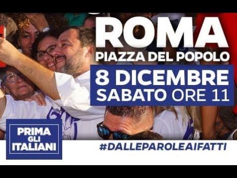 #IOCISONO CON MATTEO SALVINI (ROMA, 08.12.18)