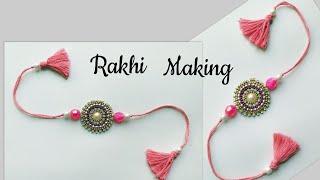 DIY Rakhi/How to make Rakhi at Home/Rakhi making for School Competition #Rakhi #Rakshabandhan