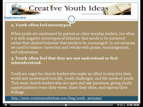 Youth Sermons: 4 Reasons Youth Stop Attending Worship
