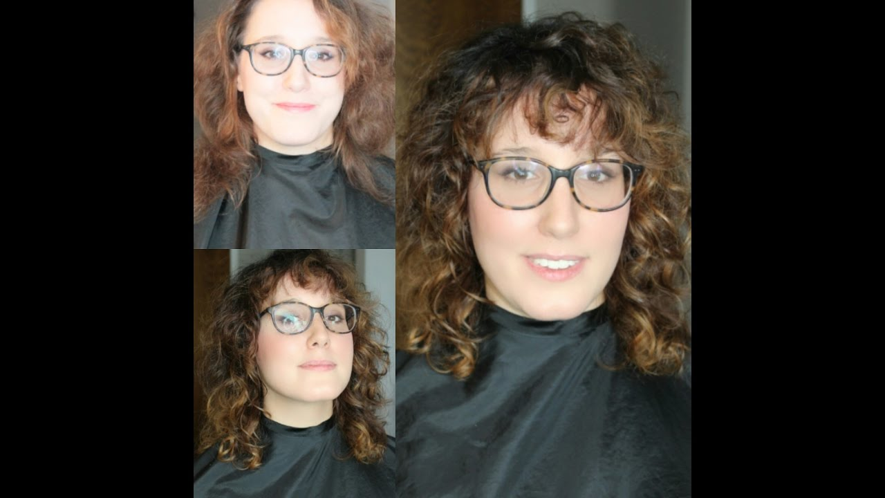 Curly Shag Haircut Makeover Youtube