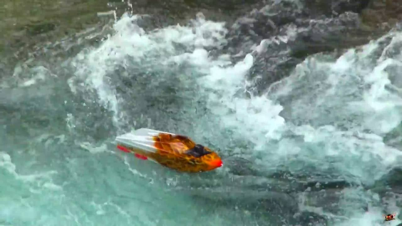 RC ADVENTURES - TURBULENT WATER - THRASHER JET BOATS vs WATERFALL - 5S Lipo  - Streamline RC