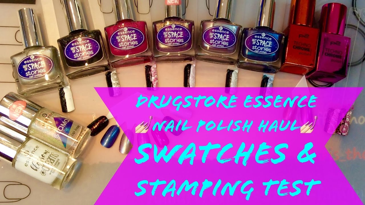 Drugstore Nail polish haul ✨ NEW ESSENCE ✨SWATCHES & STAMPING TEST ...