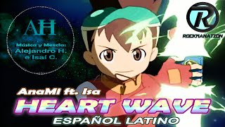 「HEART WAVE」 OP 1 RYUUSEI NO ROCKMAN | ANAMI ft. ISA【FANDUB LATINO】