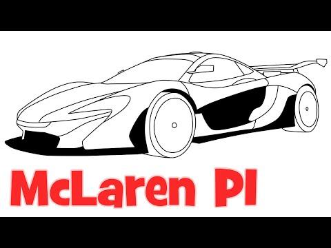 How to draw McLaren P1 sports car - Как нарисовать спортивную машину