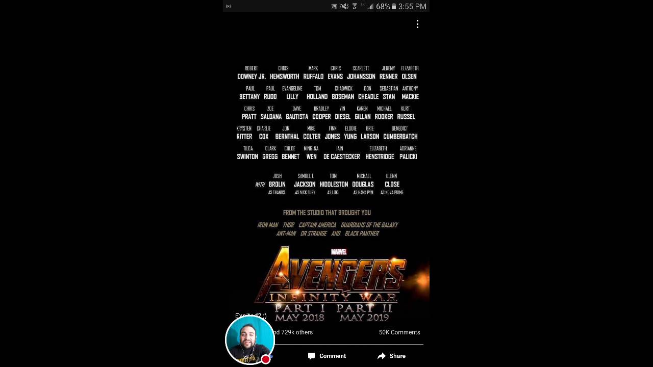 check this out for marvel avengers infinity war cast line up and