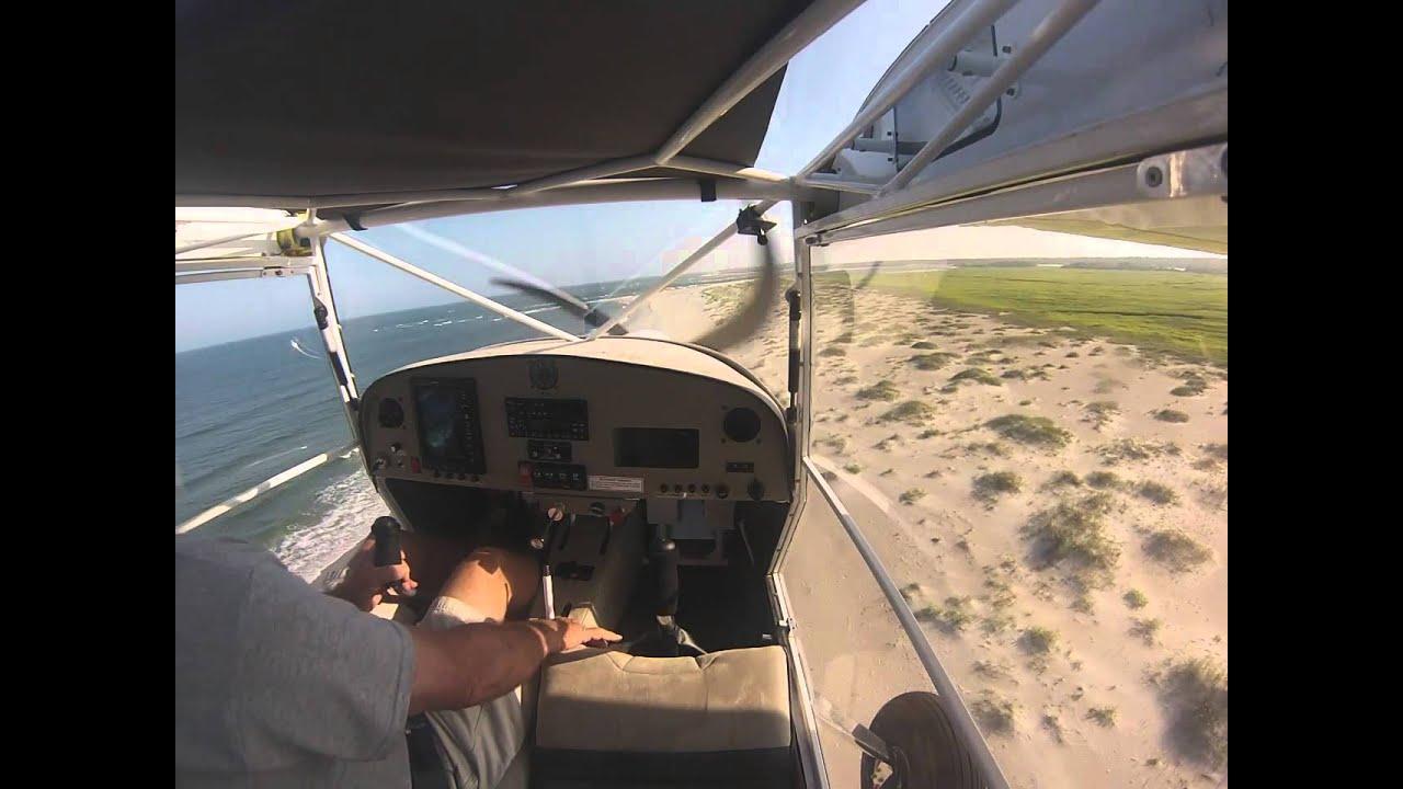 Landing on beaches in a Kitfox (Eurofox) and almost hitting