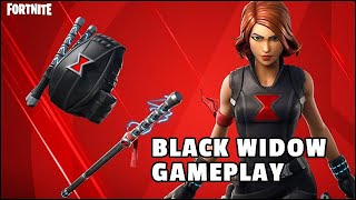 Fortnite Black Widow Outfit Gameplay (Bite, Pirouette) - Avengers Endgame Skin Review