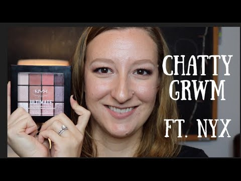MY FIRST CHATTY GRWM | FT. NYX Ultimate Multi Shadow Palette