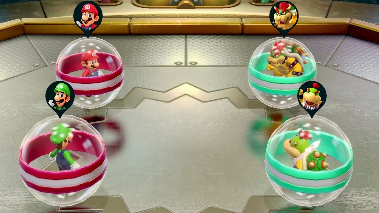 Super Mario Party - All Team Minigames (Team Mario vs. Team Bowser)