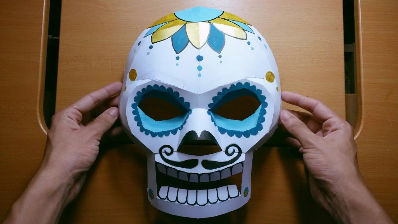 Cómo Hacer Una Máscara De Calavera Día De Los Muertos Con Papel Opalina Momuscraft