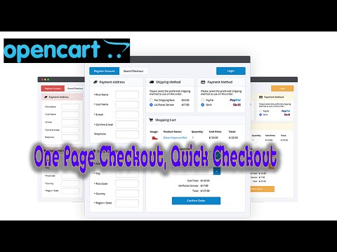 Easy One Page Checkout, Quick Checkout In Open Cart FREE