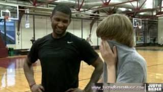 Download Justin Bieber & Usher play One on One Basketball in NYC Mp3 and Videos