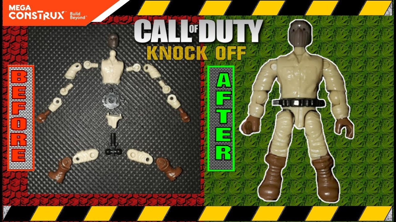 How To Build Mega Construx Knock Off Figures Cod Style Youtube