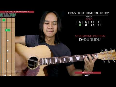 Crazy Little Thing Called Love Guitar Cover Acoustic - Queen 🎸 |Tabs + Chords|