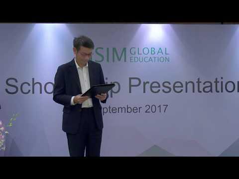SIM Scholarship Presentation - 8 September 2017