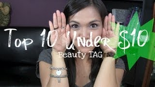 TOP 10 Under $10 Beauty TAG Thumbnail