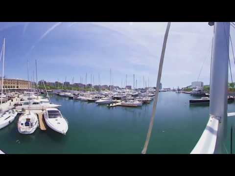 Vídeo 360 Barcelona - VR Waterfront - Port Olímpic - Alquiler de Barcos-Charters Barcelona