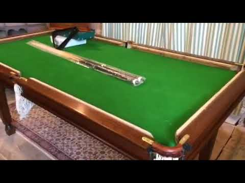 Upcycling Day 4 Riley 6ft Antique Oak Snooker Dining Table Becomes A Billiards Table Youtube