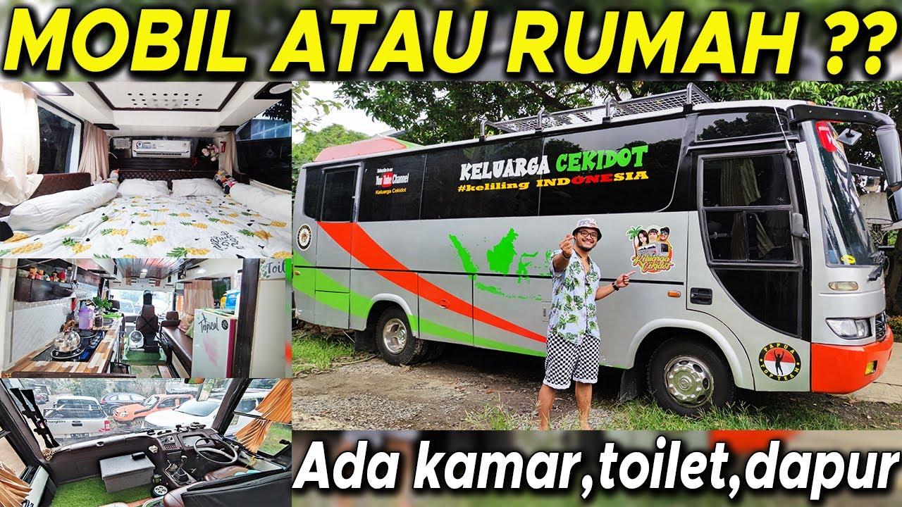 RUMAH KECE MOTORHOME RASA HOTEL LENGKAP  ADA KAMAR, TOILET, DAPUR #BBOTO #CAMPERVAN #MOTORHOME