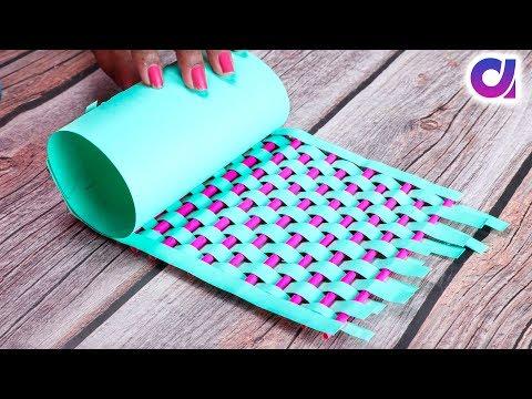 How to Make A Flower Vase At Home | Easy Paper Flower Vase | Simple Paper Craft | Artkala