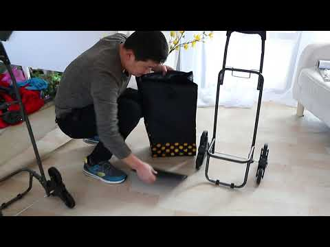 New Shopping Trolley Portable Stair Climbing Cart Folding Luggage Grocery Bag ZG0118