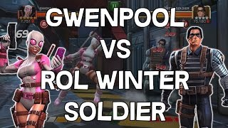 Gwenpool VS Realm Of Legends Winter Soldier - Marvel Contest Of Champions